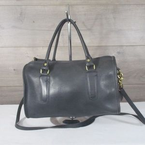 Coach Black Leather Doctor Speedy Shoulder Bag